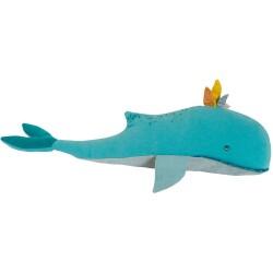 Cojín ballena Joséphine, colección El viaje de Olga