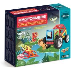 Set de construcción aventura en la jungla (32 piezas magnéticas) - M-703009