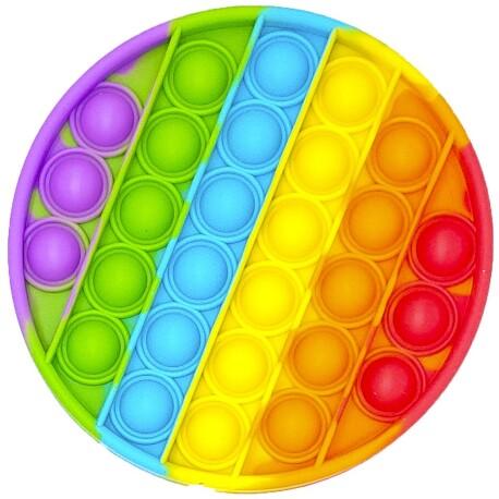 Juego sensorial y de relajación Pop it Fidget Toy Círculo arcoíris