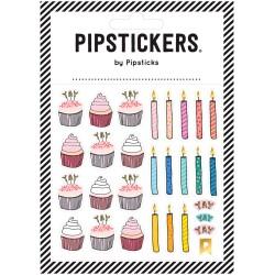 Hoja de pegatinas 10 x 10 Pipsticks de Cupcakes