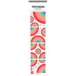 Hoja de pegatinas 5 x 20 PipStickers del Arcoíris