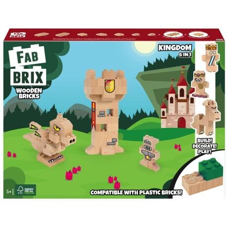 Set de construcción de 94 piezas de madera de los reinos