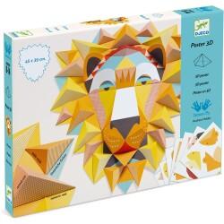 Set para crear póster en 3D del rey león