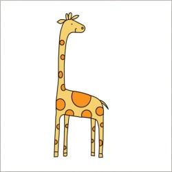 "Muselina pequeña de algodón ""jungle jam"" estampado giraffe"