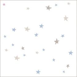 """Muselina pequeña de algodón """"night sky"""" estampado starburst"""
