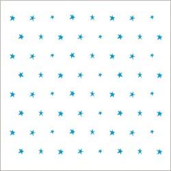 """Muselina pequeña de algodón """"fluro blue"""" estampado small starry"""