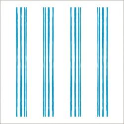 """Muselina pequeña de algodón """"fluro blue"""" estampado neon pencil stripe"""