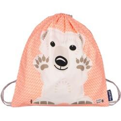 Mochila de cordones 100% algodón orgánico del oso polar