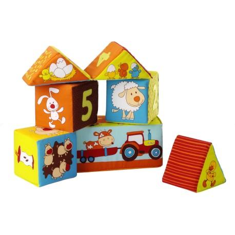 Farmhouse set of 6 cubes