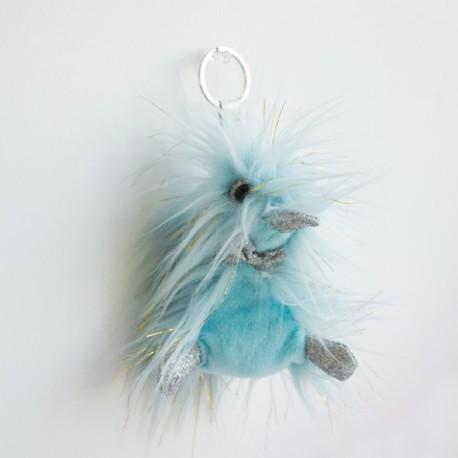 Llavero de pato de peluche azul (Galaxy)