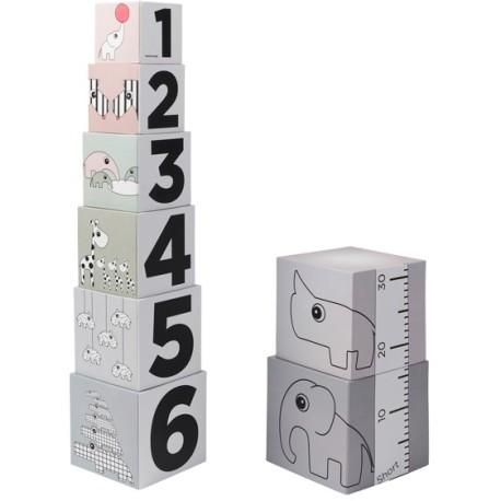 Juego de apilar cubos 123
