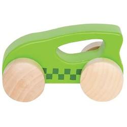 Mini coche de madera verde