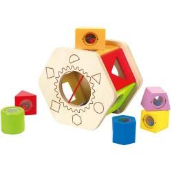 Clasificador de formas agita y combina de madera