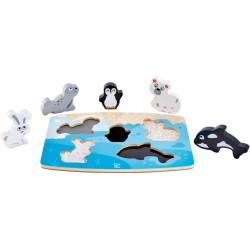 Puzle táctil de animales polares