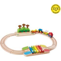 Mi pequeño juego de tren de madera