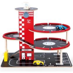 Parking juguete de madera