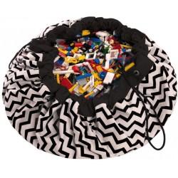 Sacos de juguetes Play & Go Zigzag negro