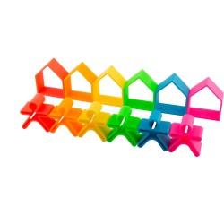 Kit de juguetes de silicona (6 muñecos + 6 casas)