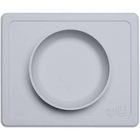 Vajilla infantil de silicona Mini Bowl gris claro