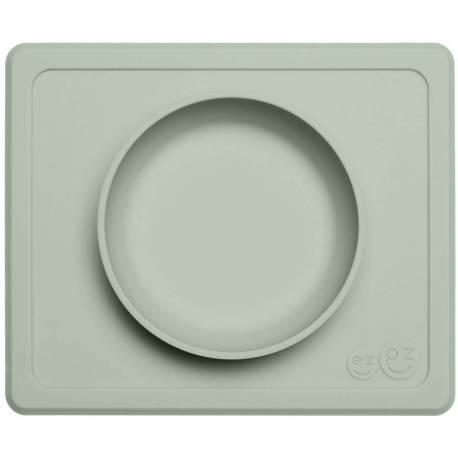 Vajilla infantil de silicona Mini Bowl verde salvia