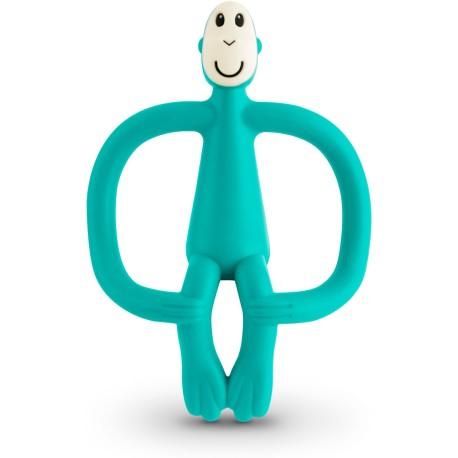 Mordedor de silicona Matchstick Monkey verde en forma de mono