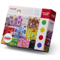 Puzle 24 piezas de ciudades coloridas