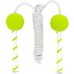 Cuerda para saltar a la comba piruleta verde
