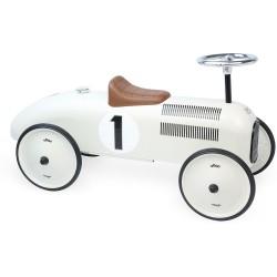 Correspasillos coche vintage blanco