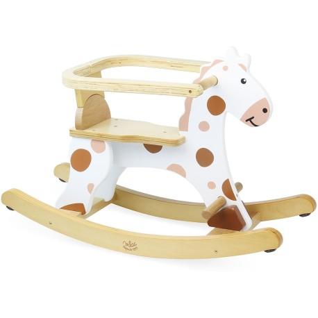 Caballito de madera con arco extraíble para niños pequeños