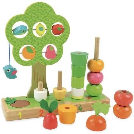 Aprendo a contar frutas y verduras