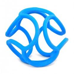 Mordedor bolli de silicona azul
