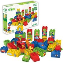 Bloques de construcción eco-friendlies de formas (40 piezas)