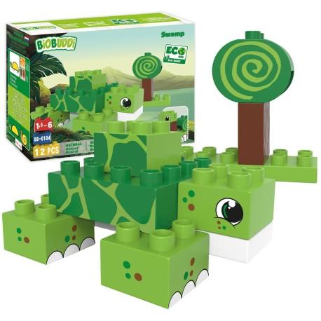 Bloques de construcción eco-friendlies tortuga del pantano (12 piezas)