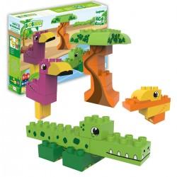 Bloques de construcción eco-friendlies animales del lago (25 piezas)