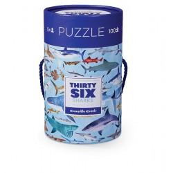 Puzle en caja 100 piezas - Tiburones