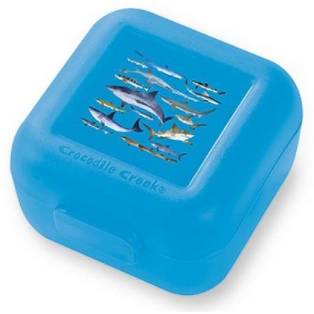 Set de 2 mini fiambreras para snacks (tupper) tiburones