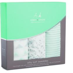 "Pack de 3 muselinas de bambú ""metallic skylight birch"""