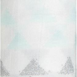 "Muselina de bambú ""metallic skylight birch"" triángulos"