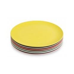 Set de 6 platos pequeños colores pastel