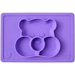Vajilla infantil de silicona Care Bears Mat lila