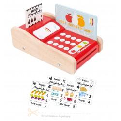 Datáfono para tarjetas de crédito de madera
