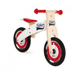Bicicleta de equilibrio de madera roja