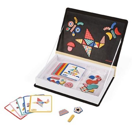 Maletín-libro magnético para jugar al tangram