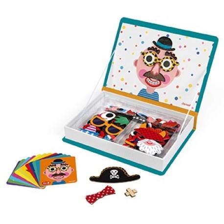 Maletín-libro magnético para crear rostros de niño