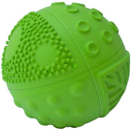 Pelota sensorial de caucho 8 cm verde