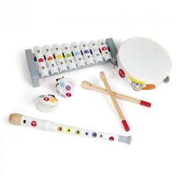 Surtido de instrumentos musicales