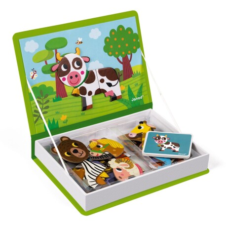 Maletín-libro magnético para aprender los animales
