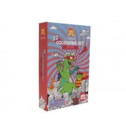 Set de colorear en 3D ciéncia ficción