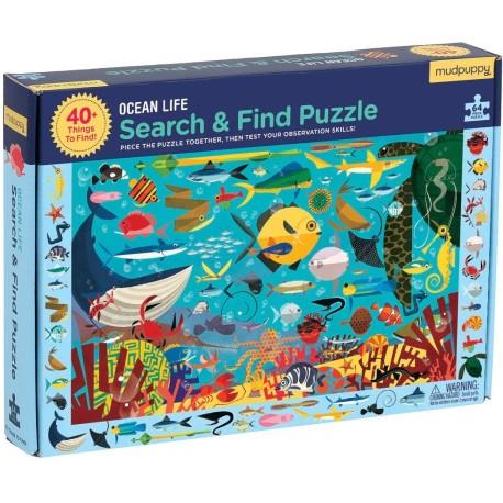 """Puzle """"busca y encuentra"""" de 64 piezas del océano"""