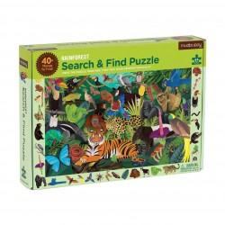 """Puzle """"busca y encuentra"""" de 64 piezas de animales de la selva"""